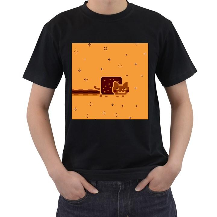 Nyan Cat Vintage Men s T-Shirt (Black)