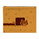Nyan Cat Vintage Cosmetic Bag (XL) Front