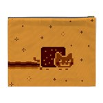 Nyan Cat Vintage Cosmetic Bag (XL) Back