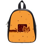 Nyan Cat Vintage School Bags (Small)  Front