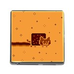 Nyan Cat Vintage Memory Card Reader (Square) Front