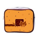 Nyan Cat Vintage Mini Toiletries Bags Front