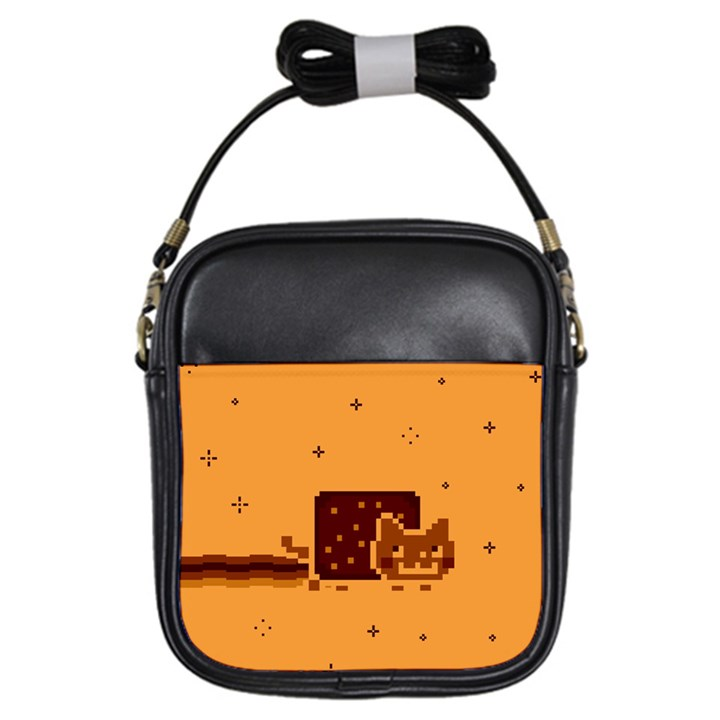Nyan Cat Vintage Girls Sling Bags