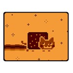 Nyan Cat Vintage Fleece Blanket (Small) 50 x40 Blanket Front