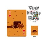 Nyan Cat Vintage Playing Cards 54 (Mini)  Front - Heart7