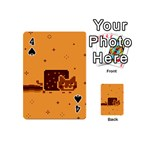 Nyan Cat Vintage Playing Cards 54 (Mini)  Front - Spade4