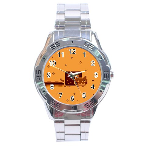Nyan Cat Vintage Stainless Steel Analogue Watch