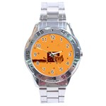 Nyan Cat Vintage Stainless Steel Analogue Watch Front