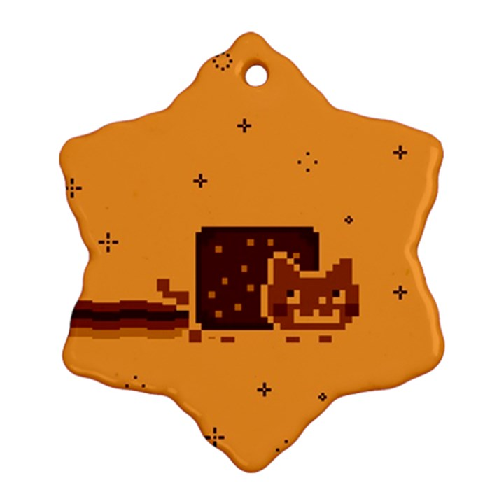 Nyan Cat Vintage Ornament (Snowflake)
