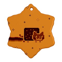 Nyan Cat Vintage Snowflake Ornament (2 Side)