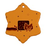Nyan Cat Vintage Snowflake Ornament (2-Side) Front