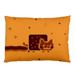 Nyan Cat Vintage Pillow Case (Two Sides) Back