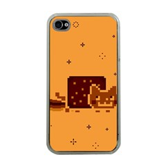 Nyan Cat Vintage Apple iPhone 4 Case (Clear)