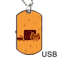 Nyan Cat Vintage Dog Tag USB Flash (Two Sides)