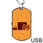 Nyan Cat Vintage Dog Tag USB Flash (Two Sides)  Front