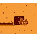 Nyan Cat Vintage Deluxe Canvas 14  x 11  14  x 11  x 1.5  Stretched Canvas