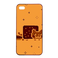 Nyan Cat Vintage Apple iPhone 4/4s Seamless Case (Black)