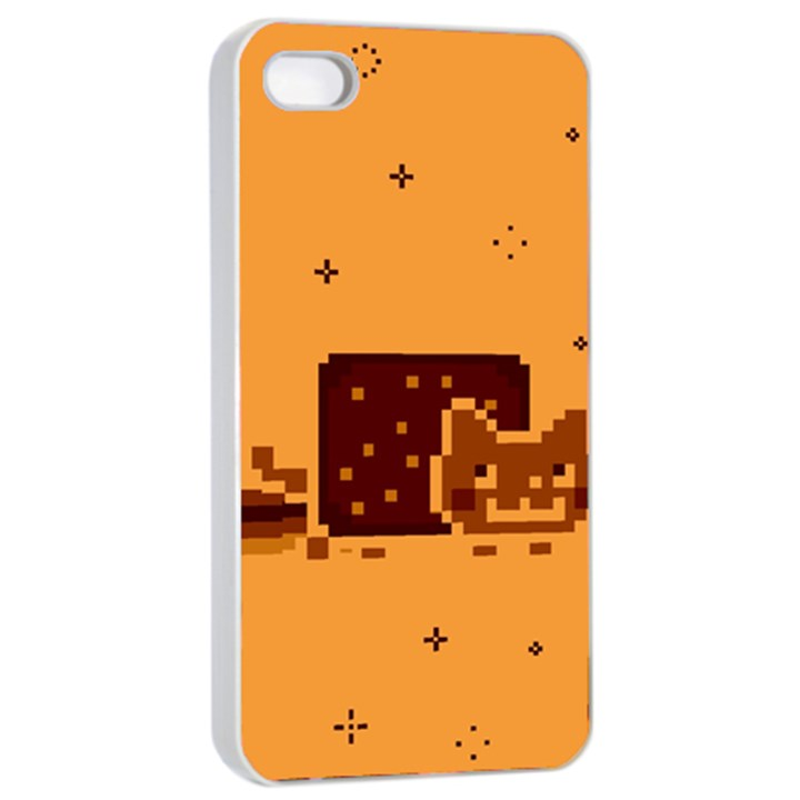Nyan Cat Vintage Apple iPhone 4/4s Seamless Case (White)