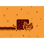 Nyan Cat Vintage BOY 3D Greeting Card (7x5) Front