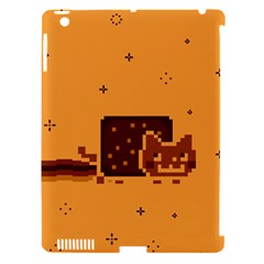 Nyan Cat Vintage Apple iPad 3/4 Hardshell Case (Compatible with Smart Cover)
