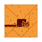 Nyan Cat Vintage Acrylic Tangram Puzzle (6  x 6 ) Front