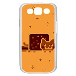 Nyan Cat Vintage Samsung Galaxy S III Case (White) Front