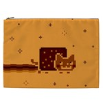 Nyan Cat Vintage Cosmetic Bag (XXL)  Front