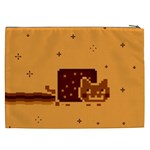 Nyan Cat Vintage Cosmetic Bag (XXL)  Back