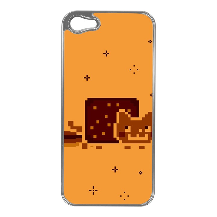 Nyan Cat Vintage Apple iPhone 5 Case (Silver)