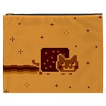 Nyan Cat Vintage Cosmetic Bag (XXXL)  Front