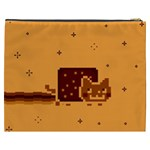Nyan Cat Vintage Cosmetic Bag (XXXL)  Back