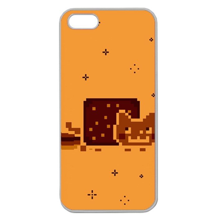 Nyan Cat Vintage Apple Seamless iPhone 5 Case (Clear)