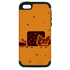 Nyan Cat Vintage Apple Iphone 5 Hardshell Case (pc+silicone)