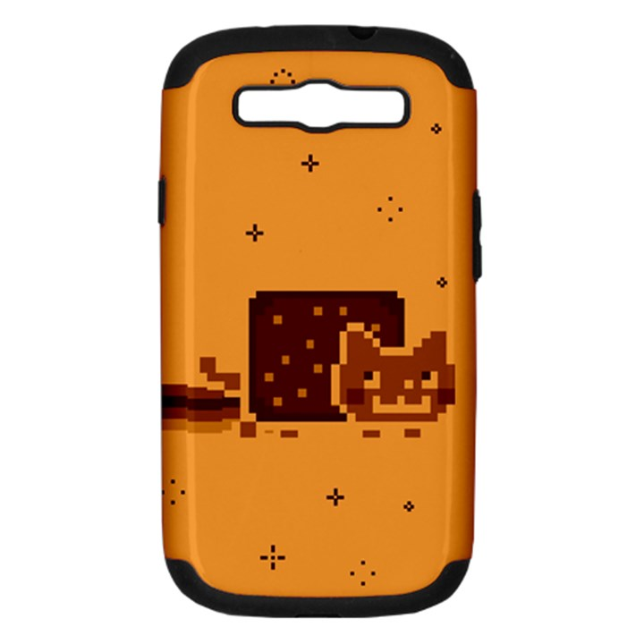 Nyan Cat Vintage Samsung Galaxy S III Hardshell Case (PC+Silicone)