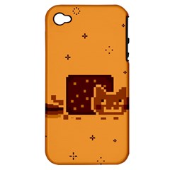 Nyan Cat Vintage Apple iPhone 4/4S Hardshell Case (PC+Silicone)