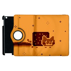 Nyan Cat Vintage Apple iPad 3/4 Flip 360 Case