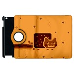Nyan Cat Vintage Apple iPad 3/4 Flip 360 Case Front