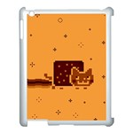 Nyan Cat Vintage Apple iPad 3/4 Case (White) Front