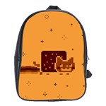 Nyan Cat Vintage School Bags (XL)  Front
