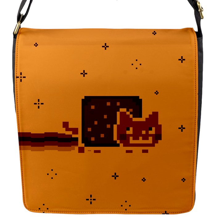 Nyan Cat Vintage Flap Messenger Bag (S)
