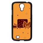 Nyan Cat Vintage Samsung Galaxy S4 I9500/ I9505 Case (Black) Front
