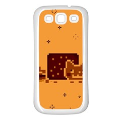 Nyan Cat Vintage Samsung Galaxy S3 Back Case (White)