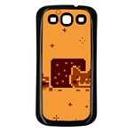 Nyan Cat Vintage Samsung Galaxy S3 Back Case (Black) Front