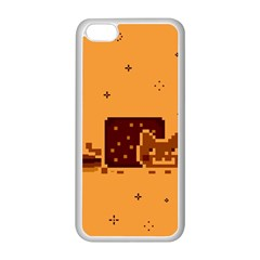Nyan Cat Vintage Apple iPhone 5C Seamless Case (White)