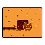 Nyan Cat Vintage Double Sided Fleece Blanket (Small)  50 x40 Blanket Back