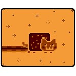 Nyan Cat Vintage Double Sided Fleece Blanket (Medium)  60 x50 Blanket Front