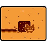 Nyan Cat Vintage Double Sided Fleece Blanket (Large)  80 x60 Blanket Front