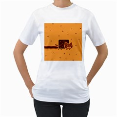 Nyan Cat Vintage Women s T Shirt (white)