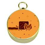 Nyan Cat Vintage Gold Compasses Front