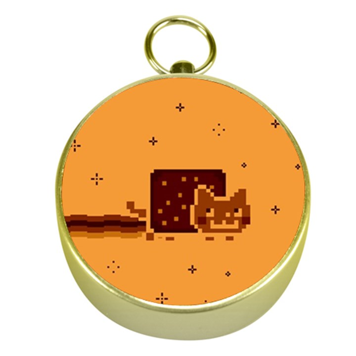 Nyan Cat Vintage Gold Compasses